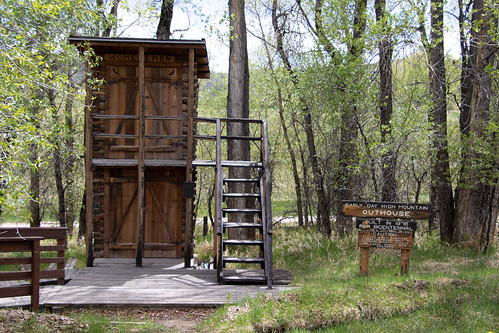 Two Story Outhouse in Encampment, Wyoming