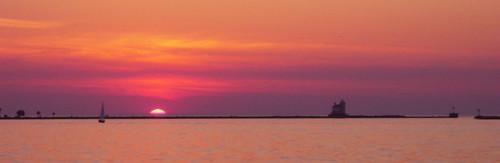 sunset ohio red panorama sailboat lakeerie neo lakecounty breakwall northeastohio fairportharbor fairportbreakwaterlight northeasternohio htprackandmarina