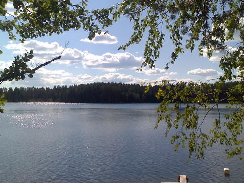 summer sky cloud lake tree clouds finland landscape nokia smartphone n80 nseries