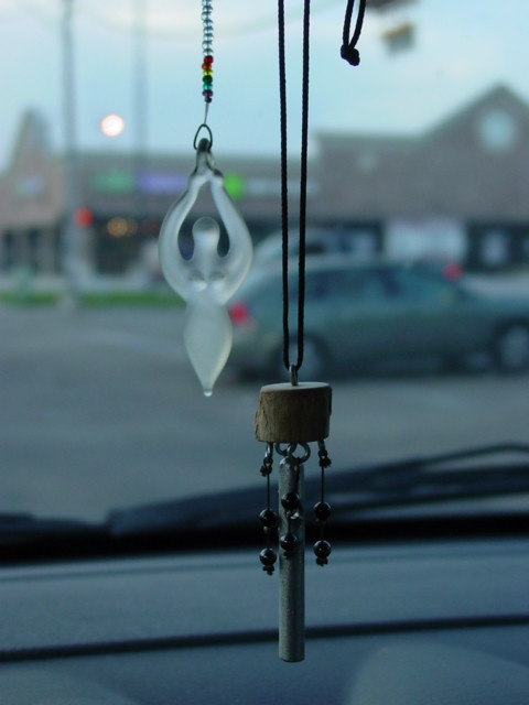 Rear view mirror decoration