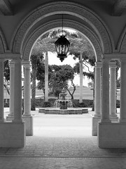 Entry fountain archway