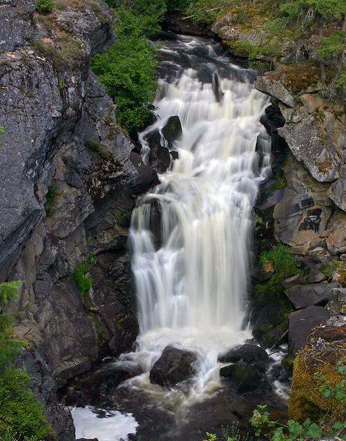 Crystal Falls Pend Oreille River Colville Washington
