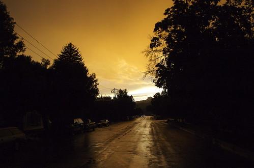 light sunset rain