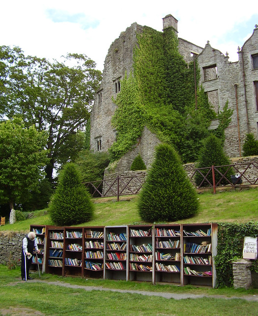 books and castle from Flickr via Wylio