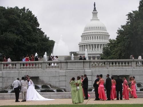Wedding party, Union Station Plaza (between D St. NE and the U.S. Capitol)