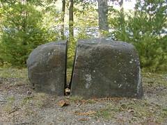 cemetery(0.0), stele(0.0), headstone(0.0), memorial(0.0), grave(0.0), monolith(0.0), boulder(1.0), megalith(1.0), rock(1.0),