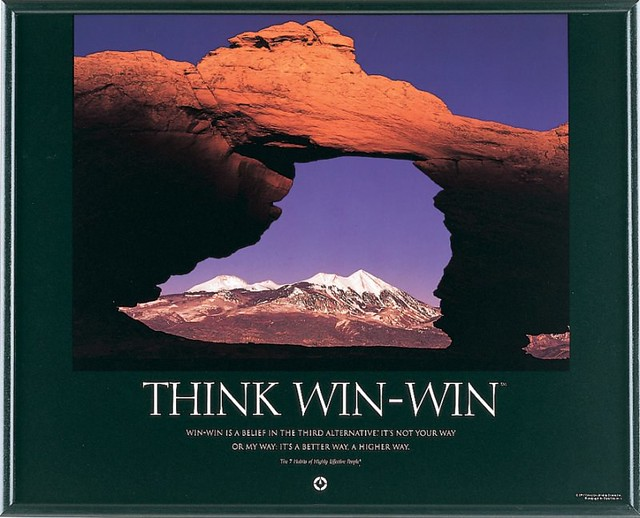 covey think win win Wednesday, may 11, 2016 it's the middle of the week the beginning is past, and the end seems miles beyond the horizon i am caught in the middle middle of a commodious ocean, where i cannot glimpse the slightest sliver of land in either d.