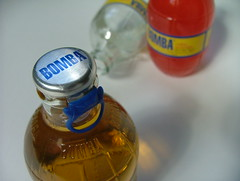glass bottle, yellow, bottle, glass, drink, blue,