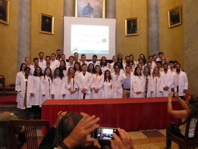 White Coat Ceremony del corso di Medicina Harvey - 6 ottobre 2017