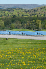 Meadow Solar Panels Mountains