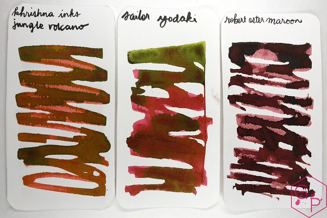 Krishna Inks Jungle Volcano Fountain Pen Ink Review @PenChalet 2