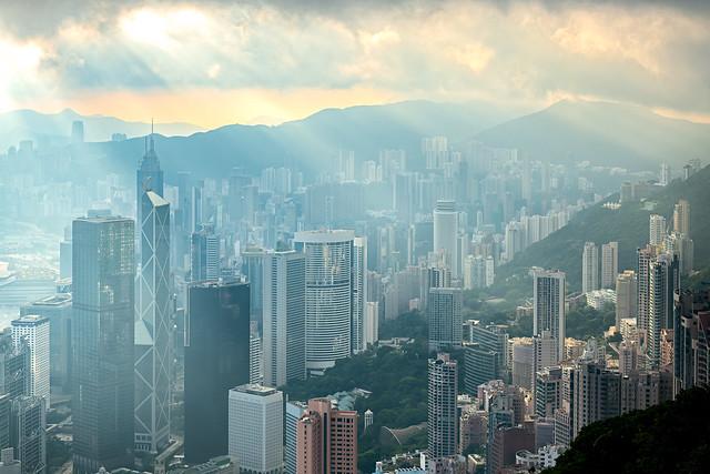 Morning Ray In Hong Kong