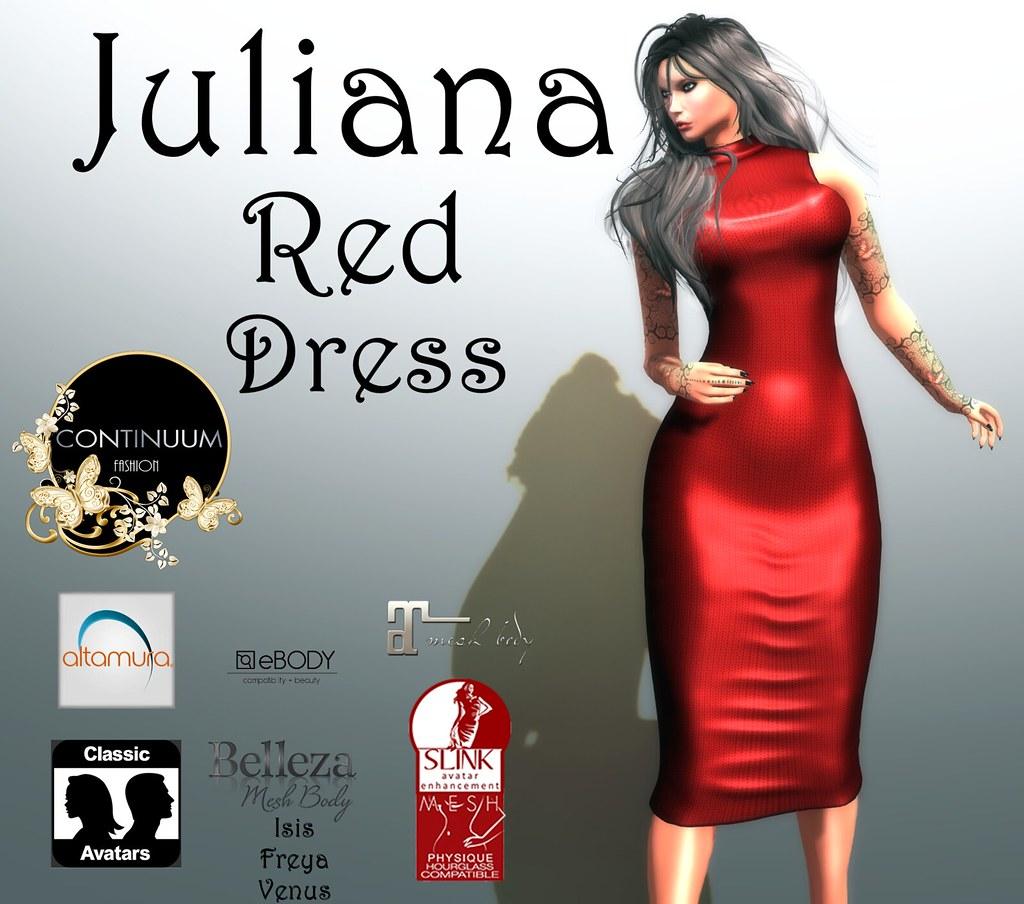 Continuum Juliana Red- Special Offer 10 Linden - TeleportHub.com Live!