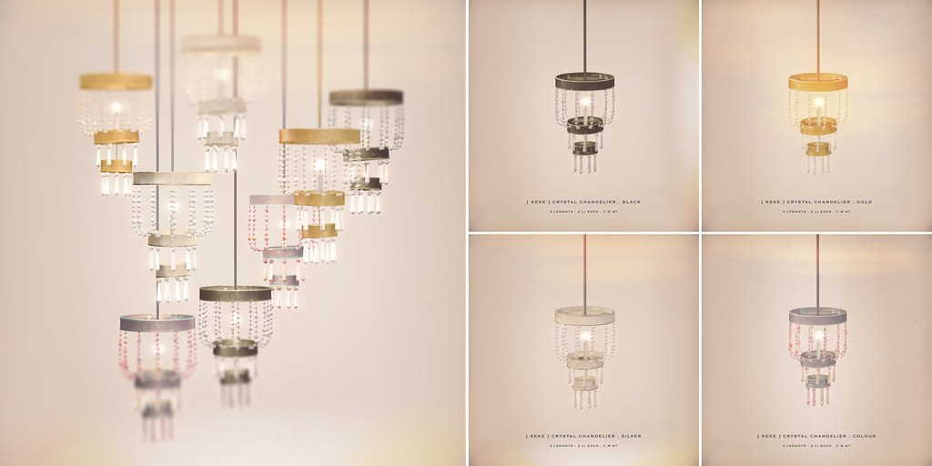 [ keke ] crystal chandelier