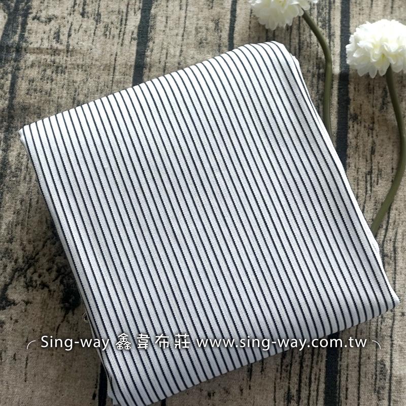 黑白直條紋 格紋 條紋 簡約條紋 襯衫洋裝服裝布料 FC490421