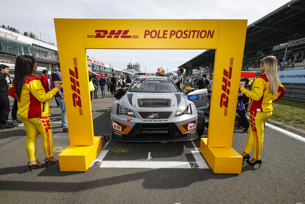 DHL Pole Position. 74 ORIOLA Pepe (ESP), Team Oscaro by Campos Racing, Cupra TCR during the 2018 FIA WTCR World Touring Car cup of Nurburgring, Nordschleife, Germany from May 10 to 12 - Photo Florent Gooden / DPPI
