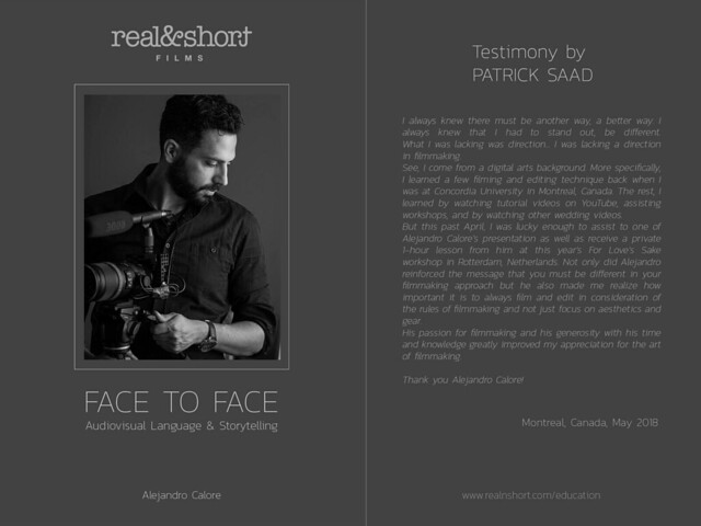 Face to Face with Patrick Saad