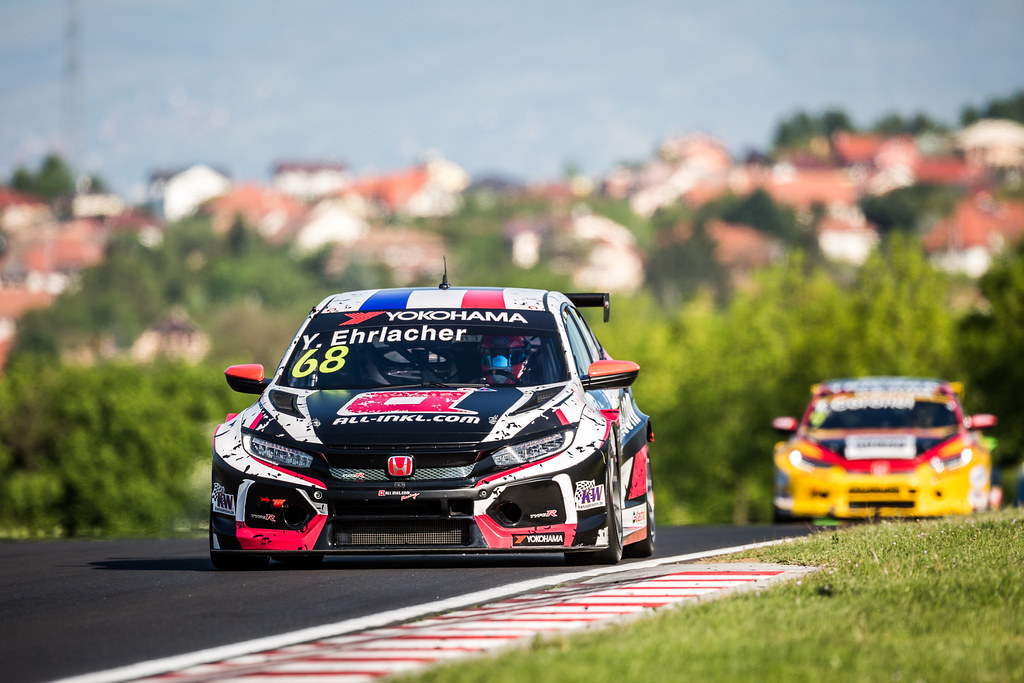 68 ERLACHER Yann (FRA), ALL-INKL.COM Munnich Motorsport, Honda Civic TCR, action during the 2018 FIA WTCR World Touring Car cup, Race of Hungary at hungaroring, Budapest from april 27 to 29 - Photo Thomas Fenetre / DPPI