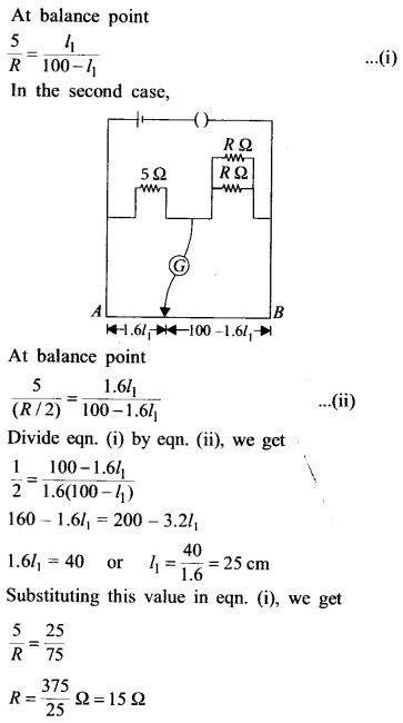 NEET AIPMT Physics Chapter Wise Solutions - Current Electricity explanation 8.1
