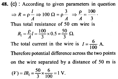 NEET AIPMT Physics Chapter Wise Solutions - Current Electricity explanation 48
