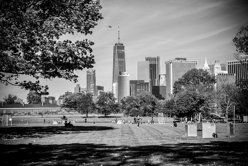 Walk In New York - New York - Governors Island (vue sur Manhattan)