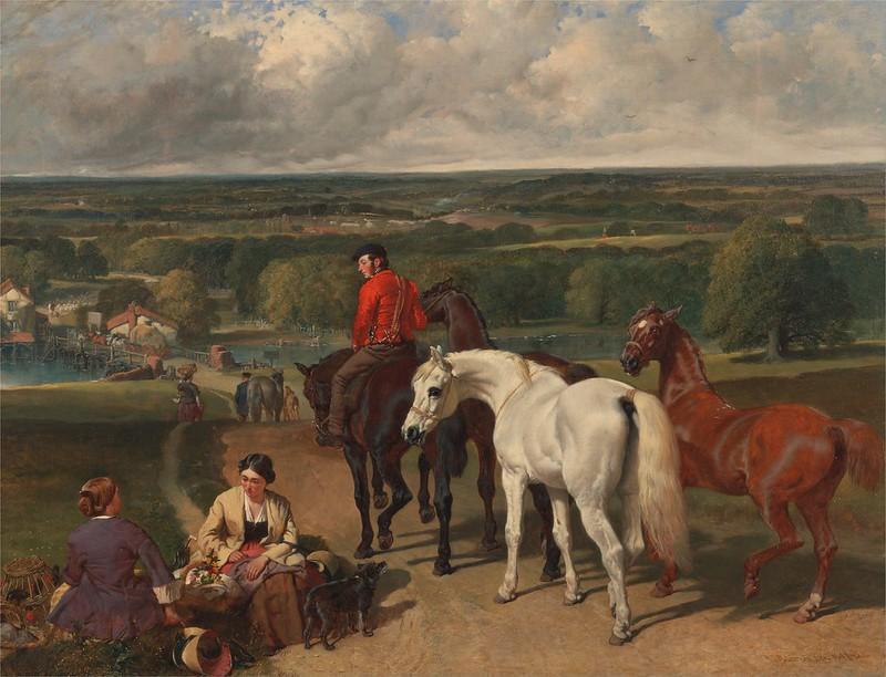 John Frederick Herring - Exercising the Royal Horses (c.1850)