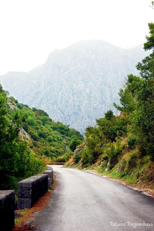 Горная дорога над Котором