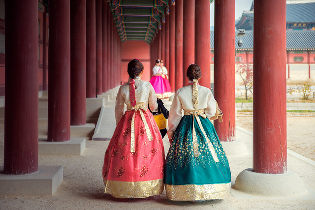 Korean lady in Hanbok
