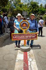 """Latitude 00°00'00"""",Quito: Ecuador"""