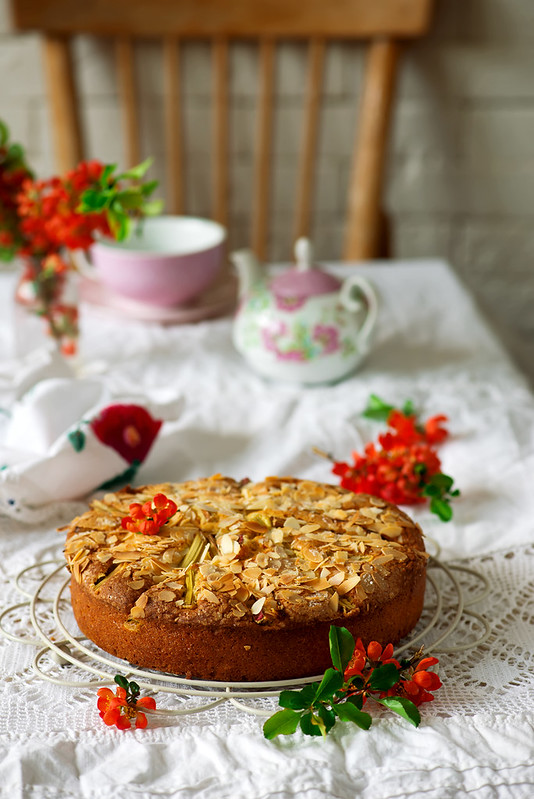 Rhubarb Almond Cake.2