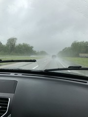 Rainy drive from Nashville to Tunica