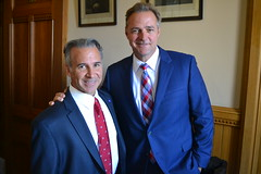 CT State Representative Fred Camillo (R-Greenwich) with baseball legend Al Leiter, starting MLB pitcher who began and ended his career with the New York Yankees.