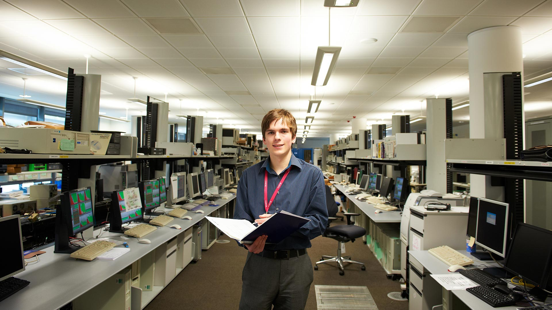 A student on placement at National Air Traffic Service in Fareham