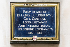 Photo of Michael Faraday blue plaque