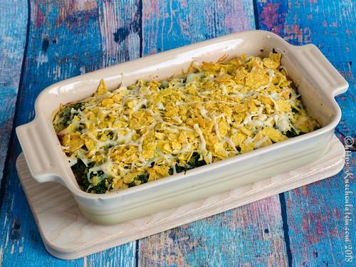Spinat-Quinoa-Gratin mit Käse-Tortilla-Kruste (1)