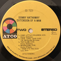 DONNY HATHAWAY:EXTENSION OF A MAN(LABEL SIDE-B)