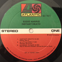 EDDIE HARRIS:INSTANT DEATH(LABEL SIDE-A)