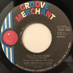 GEORGE FREEMAN:ALL IN THE GAME(LABEL SIDE-A)