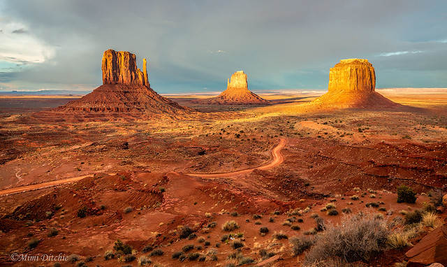 Last Light Over Monument Valley
