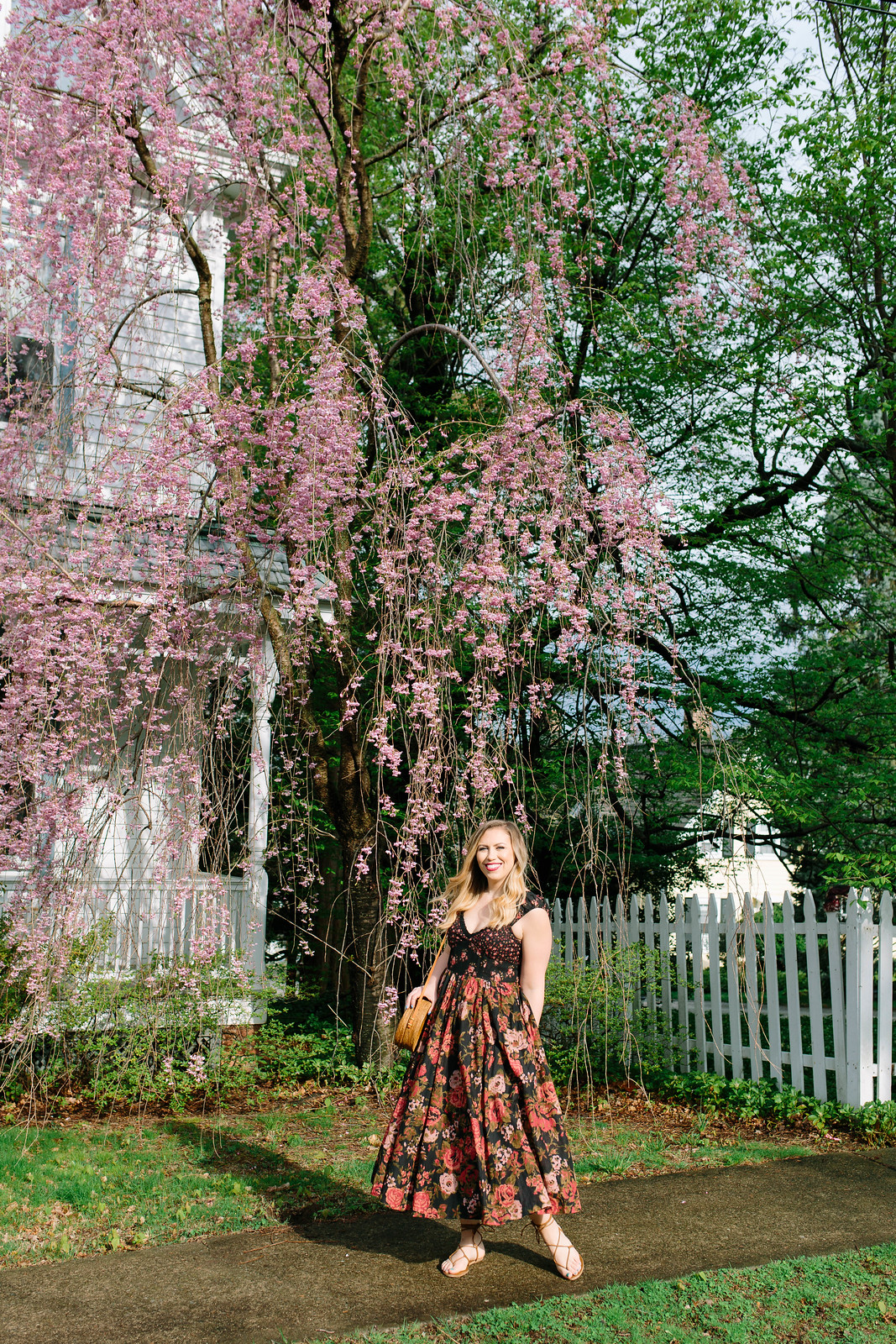 Free People Love You Midi Dress Floral Print Dress Nordstrom Westchester Irvington New York Jackie Giardina Fashion Style Outfit Blogger
