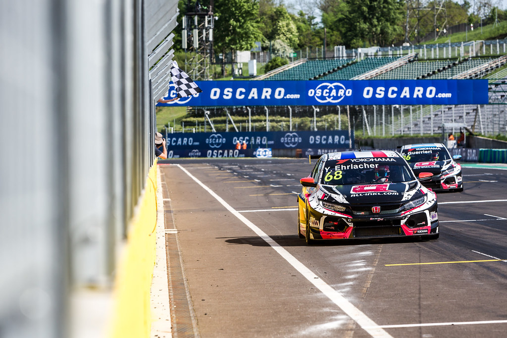 68 ERLACHER Yann (FRA), ALL-INKL.COM Munnich Motorsport, Honda Civic TCR, action, winner during the 2018 FIA WTCR World Touring Car cup, Race of Hungary at hungaroring, Budapest from april 27 to 29 - Photo Thomas Fenetre / DPPI