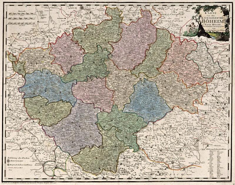 Franz Johann Joseph von Reilly - Karte von dem konigreiche Boheim (1796)