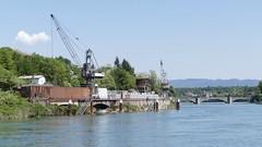 rhine port in Rheinfelden Germany