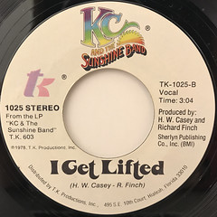 KC AND THE SUNSHINE BAND:BOOGIE SHOES(LABEL SIDE-B)