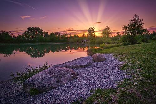 Sonnenuntergang am Ebersdorfer See
