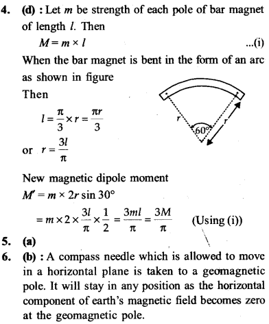 NEET AIPMT Physics Chapter Wise Solutions - Magnetism and Matter explanation 4,5,6