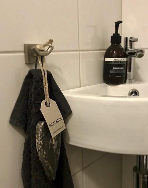 Zeep aan touw toilet