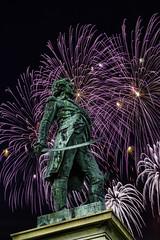 Hugh Mercer statue in Fredericksburg VA