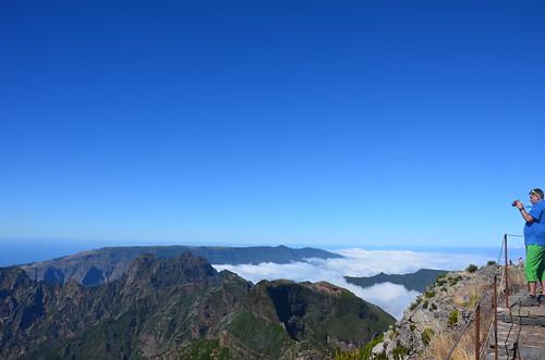 Blick über die Wolken von Madeira