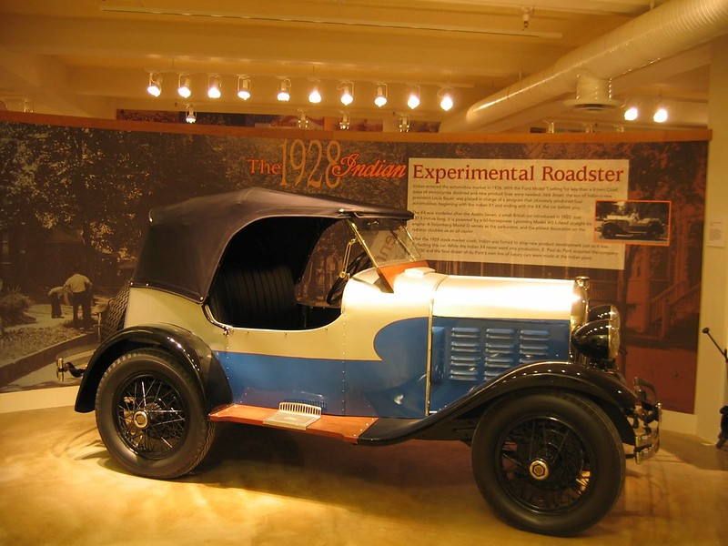 1928 Indian Experimental X-4 Roadster.